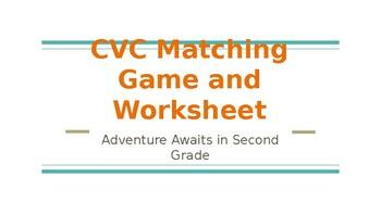 CVC Matching Game and Worksheet