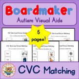 CVC Matching Sheets - Boardmaker Visual Aids for Autism SPED