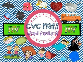 CVC Mats Word Family Aa