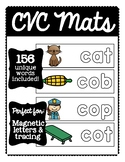 CVC Mats (for Magnetic Letters, Play-doh Mats, & Tracing Practice!)
