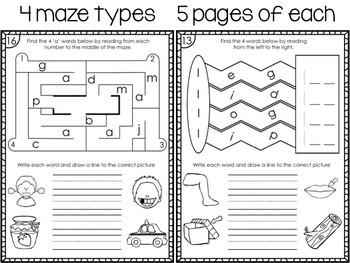 CVC Mazes: 80 CVC Words to Discover and Write!