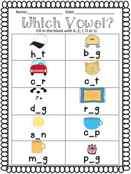 Cvc Medial Vowel Worksheet Worksheets for all | Download and Share ...