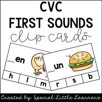 CVC First Sound Clip Cards