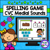 CVC Medial Sounds Interactive Spelling Game for PowerPoint