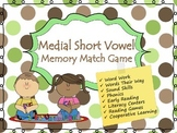 CVC Medial Vowel Phonics Memory Game (Short Vowel Sounds)