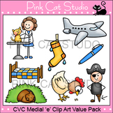 Clip Art CVC Medial 'e' Clip Art Value Pack - Personal or Commercial Use