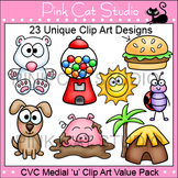 Clip Art CVC Medial 'u' Clip Art Value Pack - Personal or Commercial Use