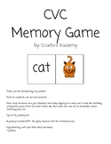 CVC Memory Game Literacy Center