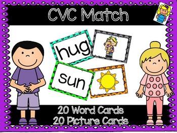 CVC Memory Game Pocket Chart Matching