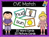 CVC Memory Game Pocket Chart Matching
