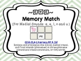 CVC  Word Memory Match Game (Medial Vowels a, e, i, o and u)