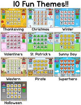 CVC Words Game: Short Vowel Sounds Spring Activities SMARTboard & Tablet Game