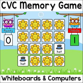 CVC Words Game: Short Vowel Sounds SMARTboard & Tablet Game