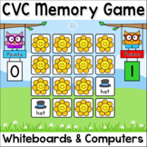 CVC Game: Short Vowel Sounds Memory Game: In-Class & Distance Learning