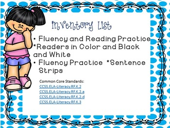 CVC Middle A Fluency Readers and Sentence Strips Print and GO