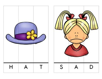 CVC Middle A Word Puzzles
