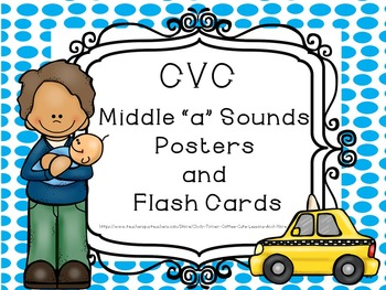 CVC Middle A sounds Flash Cards and Posters