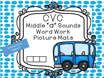 CVC Middle A sounds Word Work Building Mats