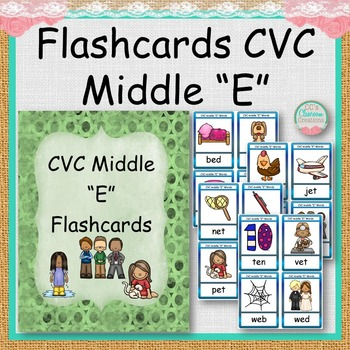 "CVC Middle ""E"" Flashcards"