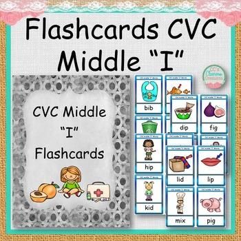 """FLASHCARDS CVC Middle """"I"""""""