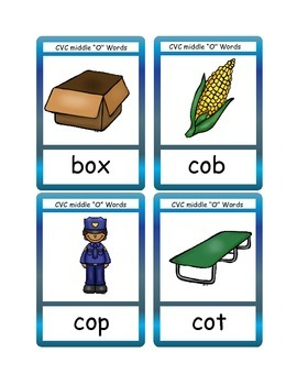 "CVC Middle ""O"" Flashcards"