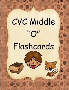 "CVC Middle ""O"" Flashcards"