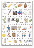 CVC Middle Sound Colour Worksheet 1 Grade 1