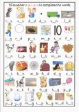 CVC Middle Sound Colour Worksheet 2 Grade 1