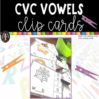 CVC Middle Sounds Clip It Cards