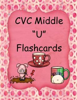 """CVC Middle """"U"""" Flashcards"""