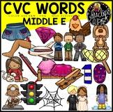 CVC Middle e Words Clip Art Bundle {Educlips Clipart}