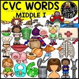 CVC Middle i Words Clip Art Bundle {Educlips Clipart}