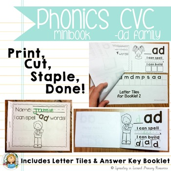Phonics CVC Mini Books {-ad Family}
