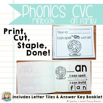 Phonics CVC Mini Books {-an Family}