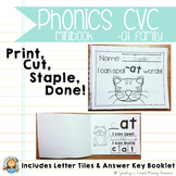 Phonics CVC Mini Books {-at Family}
