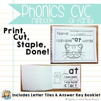 Phonics CVC Mini Books {-at Family}