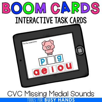 CVC Missing Medial Sounds (Boom! Deck)