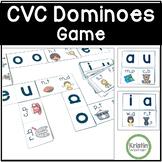 CVC Missing Short Vowels Domino Game