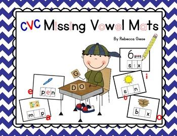CVC Missing Vowel Mats