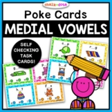 CVC Missing Vowel Poke Cards