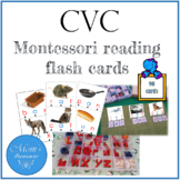 CVC Montessori reading  flash cards