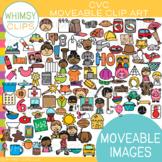 CVC Moveable Clip Art {MOVEABLE IMAGES}