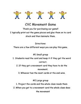 CVC Movement Game