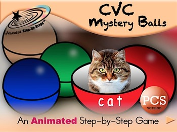 CVC Mystery Balls - Animated Step by Step Game - PCS