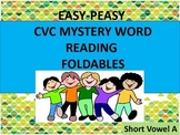 #backtoschool CVC Mystery Word Reading Foldables Short A