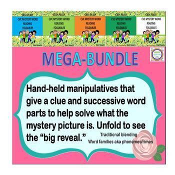 CVC Mystery Word Reading Foldables Mega Bundle