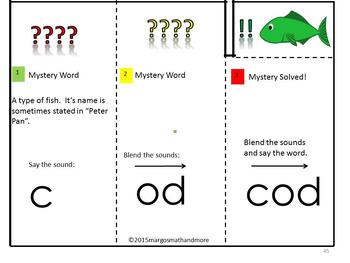 CVC Mystery Word Reading Foldables Short O