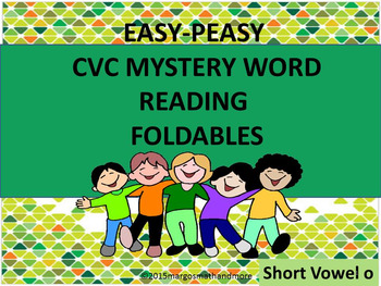 #backtoschool CVC Mystery Word Reading Foldables Short O