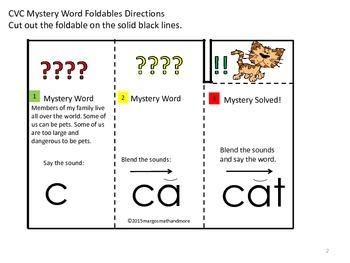 #backtoschool CVC Mystery Word Reading Foldables Short i
