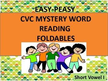 CVC Mystery Word Reading Foldables Short i
